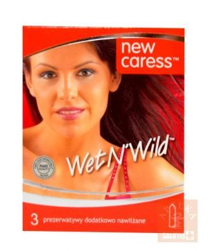 Prezerwatywy New Caress wet n'wild x 3 szt.
