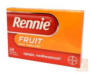 Rennie Fruit x 24 tab.do ssania