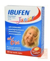 Ibufen Junior x 10 kaps.